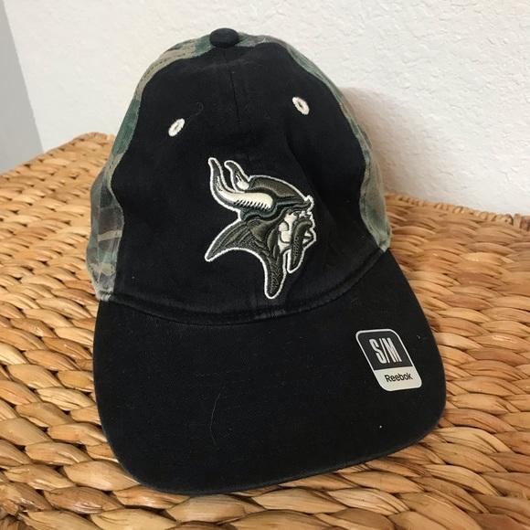 b083145d Minnesota Vikings Camo Baseball Hat